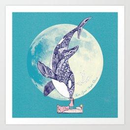Kiss Good Night - Orca I Art Print
