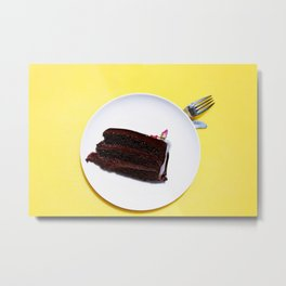CAKE - PLATE - DIET - DESSERT - FOOD - PHOTOGRAPHY Metal Print
