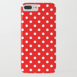 Girls just wanna have dots - red/white iPhone Case