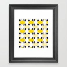 Yellow stars pattern Framed Art Print