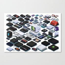 A Pixel Retrospective 2 Canvas Print