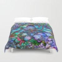 succulent Duvet Covers featuring Succulent by Klara Acel