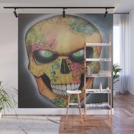 Mrs. skull Wall Mural