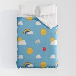 Kawaii Skies Duvet Cover