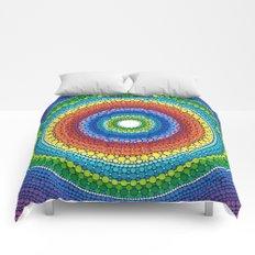 Happy Rainbow Mandala Comforters