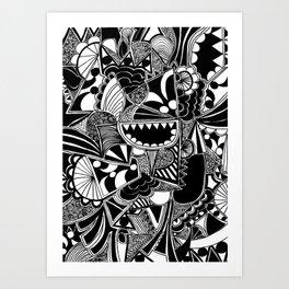 oh hey Art Print