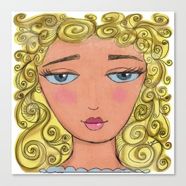 Curly girly Canvas Print