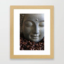 coffee buddha Framed Art Print