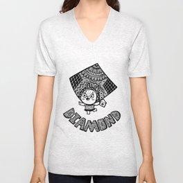 Diamond of Bunny Unisex V-Neck