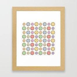 Rainbow Buttons  Framed Art Print