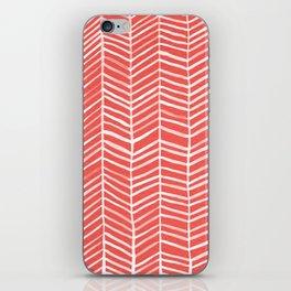 Coral Herringbone iPhone Skin