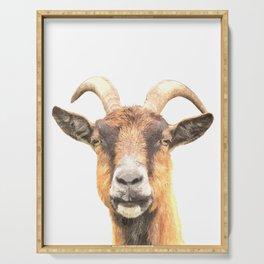 Goat Portrait Serving Tray