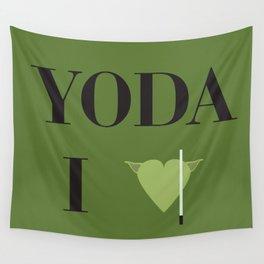I heart Yoda Wall Tapestry