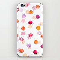 polka iPhone & iPod Skins featuring Polka by Eleanor Amelia