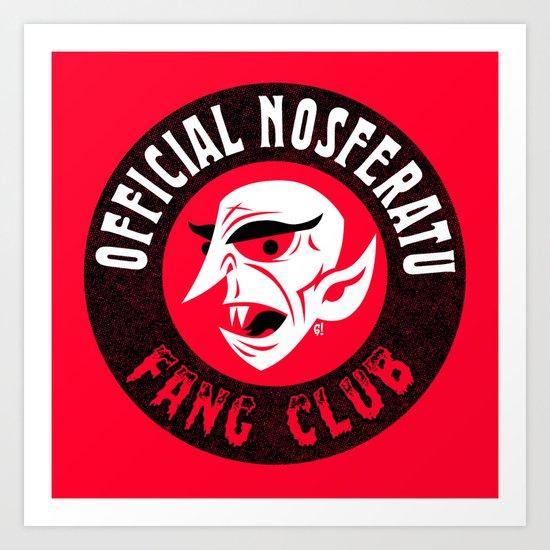 Nosferatu Fang Club Art Print