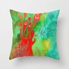 Surging From The Sea Of Dreaming Throw Pillow