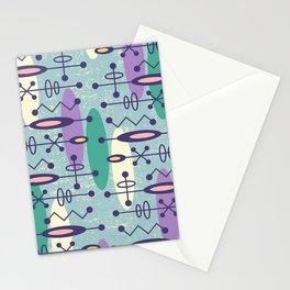 Mid Century Modern Radioactive Surfer 277 Stationery Cards