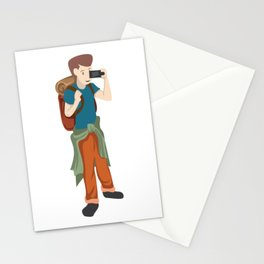 A Perfect Gift For Your Sibling Or Friend An Illustration Of  A Boy Capturing Pictures T-shirt Stationery Cards