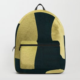 Gold Abstract elements on Teal Background Backpack