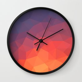 Flame Low Poly Wall Clock