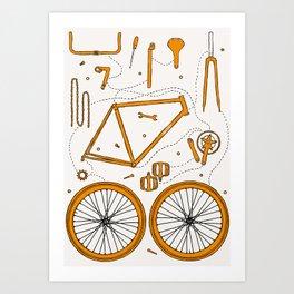 BIKE PARTS Art Print