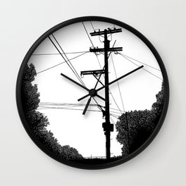 Power Lines at the bluff Wall Clock