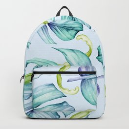 Fancy Tropical Pattern Backpack