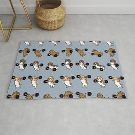 Olympic Lifting Beagles Rug