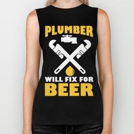Funny Costume For Plumber. Beer Shirt Biker Tank