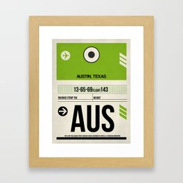 AUS Austin Luggage Tag 1 Framed Art Print