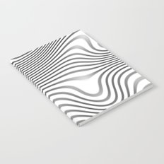 Organic Abstract 02 WHITE Notebook