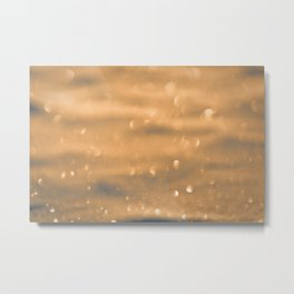defocused snow background Metal Print