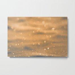 defocused snow background Metal Print