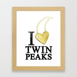 I Love Twin Peaks (Gold Heart Necklace) Framed Art Print