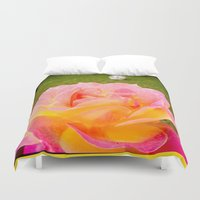 zappa Duvet Covers featuring Flower and Skull by Diva Zappa