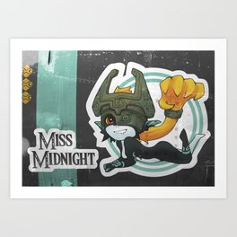 Midna - Miss Midnight Art Print