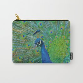 Peacock Illustration Carry-All Pouch