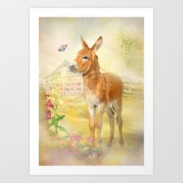 Little Donkey Art Print
