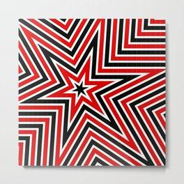 Geometric Star Line Art Metal Print