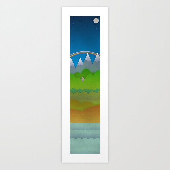 Over and Under the Rainbow Art Print