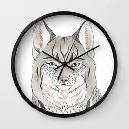 Woodlands lynx Wall Clock