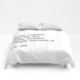 R.H. sin quote Comforters
