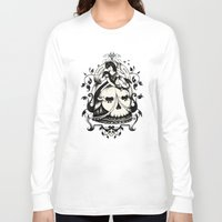 death Long Sleeve T-shirts featuring Mrs. Death by Enkel Dika