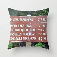 miles davis Throw Pillows featuring Trail Miles by NoelleB