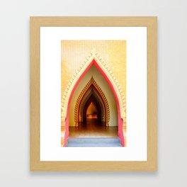 Thamsua temple door in Kanchanaburi, Thailand Framed Art Print