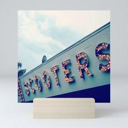 Scooters ~ vintage carnival sign ~ lights Mini Art Print
