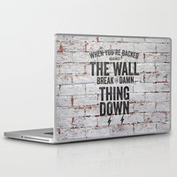 motivational Laptop & iPad Skins featuring Motivational quote n. 2 by AnnaF31