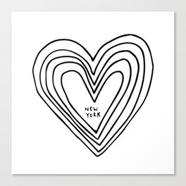 All Day. Every Day. Heartbeats for NYC. Canvas Print