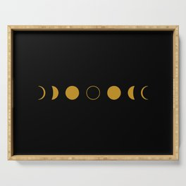 Lunar Phases Serving Tray
