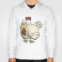 chicken Hoodies featuring Chicken by Ky Betts